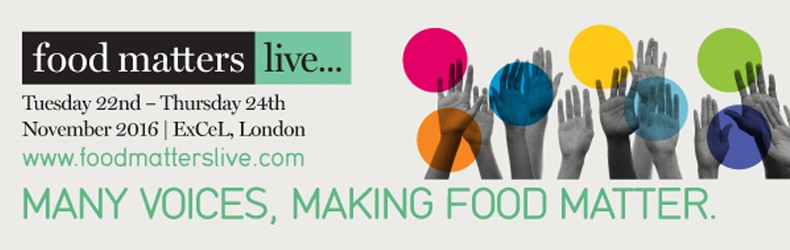 I'm excited to be part of Food Matters Live 2016